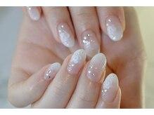 ネイルサロンブラン(nail salon BLANC)/バラのグラデーションブライダル