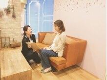 イコイ アイラッシュサロン(icoi eyelash salon)の雰囲気(丁寧なカウンセリングで、お客様にぴったりのデザインに…♪)