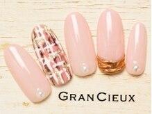 グランシュクアトロ 千葉店(GranCieux × QUATRO)/ツイード×アクセサリーネイル