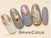 グランシュクアトロ 千葉店(GranCieux × QUATRO)/大人ゴージャスな大理石風アート
