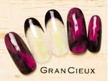グランシュクアトロ 千葉店(GranCieux × QUATRO)/鮮やかピンク×ブラックフレンチ