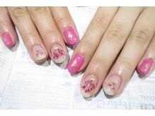 アシッドアッシュ(ACID ash)/375 冬ピンク 押し花ネイル
