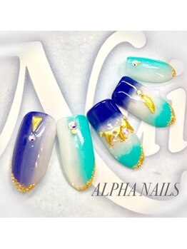 アルファ ネイルズ(ALPHA NAILS)/定額ジェル¥10880