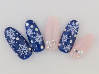 サンミーゴネイル 京都店/冬の結晶ネイル