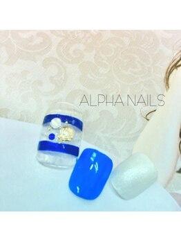 アルファ ネイルズ(ALPHA NAILS)/FOOT定額ジェル¥8880
