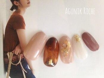 アグニークリッシェ(Agunik Riche)/【べっ甲ネイル】