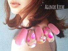 アグニークリッシェ(Agunik Riche)/【チューリップ柄ネイル】