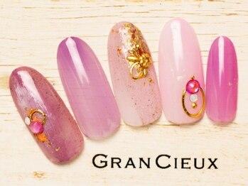グランシュクアトロ 千葉店(GranCieux × QUATRO)/鮮やかピンク縦グラデワンカラー