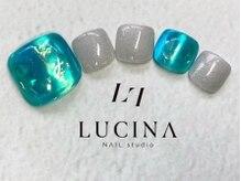 ネイルスタジオ ルキナ(LUCINA)/LU-170 うるうるブルー氷ネイル