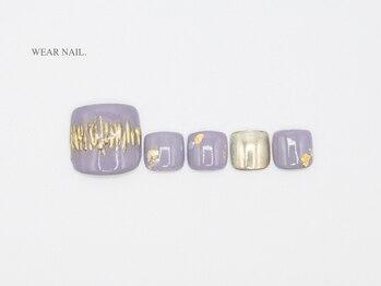 ウェアネイル(WEAR NAIL.)/ミラーアートネイル¥9500