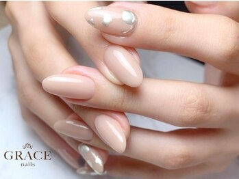グレース ネイルズ(GRACE nails)の写真/【大阪上本町徒歩3分】ワンランク上の大人女性が満足する高技術力!!お客様1人1人に合わせたジェルを使用◎