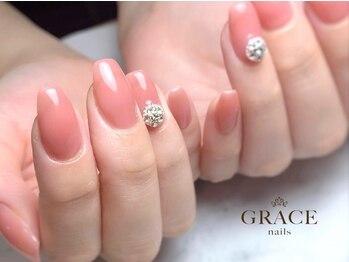 グレース ネイルズ(GRACE nails)の写真/【谷町9丁目徒歩3分】自爪の健康を考えた施術が魅力!丁寧なケアでネイルの仕上りとモチの良さに差がつく☆