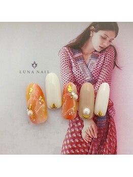 ルナ ネイル(LUNA NAIL)/Summerオレンジ