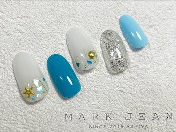 マークジーン 姫路(MARK JEAN)/ブルー ラメ シェル ターコイズ