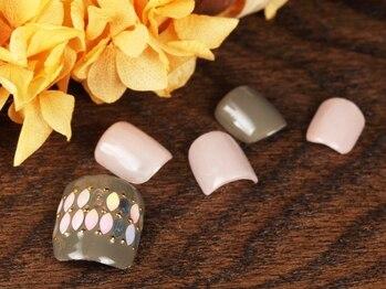 ネイルサロンアンドスクール グーフィー(nail salon&school goofy)/ ホログラムフットジェル8250円