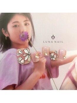 ルナ ネイル(LUNA NAIL)/ピンク×フラワー