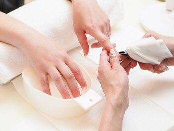 レリーネイルの写真/ネイルが出来ない・お休みされている方にもオススメ◎丁寧なウォーターケアで自爪を健康的で美しい状態に♪