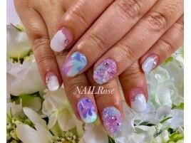 ウォーターマーブル紫陽花