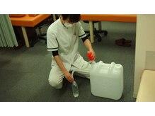 ○次亜塩素酸水の無料配布