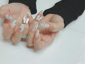 フランセス(Frances)/オーダーネイル 蝶々