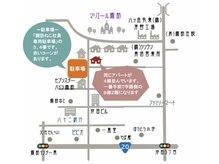 夢花/当店と駐車場の場所です