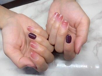 ネコ(Neco)の写真/【パラジェル取り扱いサロン☆】パラジェル使用で自爪が薄くて困っている方も綺麗な指先・つま先に♪