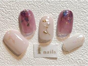 アイネイルズ 梅田店(I nails)/ワイヤー×フラワー