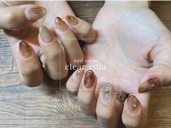 ネイルサロンクリアヴィラ(nail salon clear villa)の写真/豊富なサンプルから組み合わせもOK!持ち込みデザイン歓迎♪なので自分だけのオリジナルネイルを楽しめる☆
