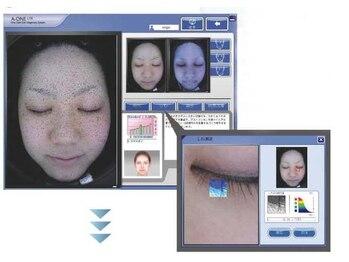 ウノプリールビューティー(uno pulir BEAUTY)/a-oneライトで肌診断