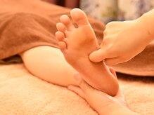 各器官と繋がっている足裏を刺激