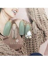 ルナ ネイル(LUNA NAIL)/大理石&くすみグリーン