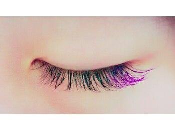 シンプリー ネイルアンドアイラッシュ 祖師谷大蔵店(Simpliee Nail&Eyelash)/カラーエクステ パープル