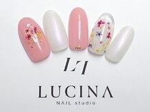 ネイルスタジオ ルキナ(LUCINA)/W-584 【新作】カラフル押し花