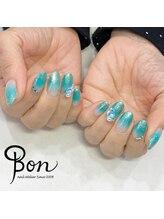ネイルアトリエ ボン(nail atelier bon)/エメラルドグリーン