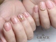 グレース ネイルズ(GRACE nails)/ダルメシアン×ミラー