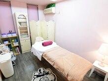 脱毛の施術スペースは、完全個室になっています。