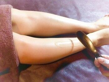 全身脱毛アンドブラジリアンワックス スムースキングダム 渋谷道玄坂店/美容成分配合の専用ジェルを塗布
