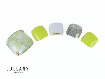 ララバイ 恵比寿店(LULLABY)/イエローフラワーネイル