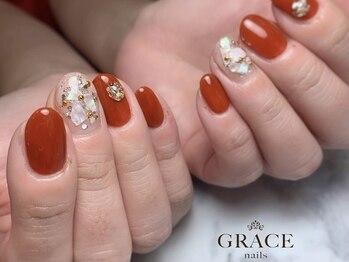 グレース ネイルズ(GRACE nails)/テラコッタとシェル