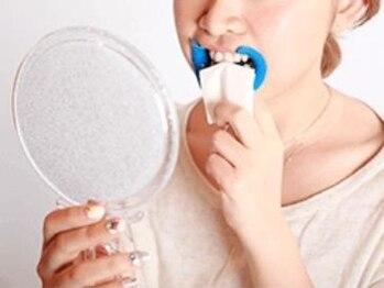 ホワイトニングバー 町田店(WhiteningBAR)/◇歯の表面の水分の拭き取り