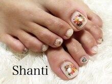 シャンティ ネイルサロン(Shanti nail salon)/押し花 春夏 フットネイル♪