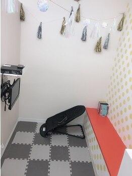 アイラッシュアンドネイル ボニータ(BONITA)の写真/塗り絵やDVDが観られるキッズスペース有り♪忙しい主婦の方も気軽にご来店頂けるサロンです*