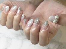 ネイルサロンブラン(nail salon BLANC)/リボンパーツが可愛いニュアンス