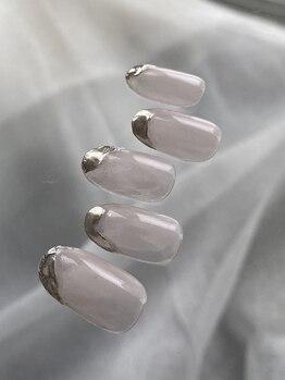 アンジェリカミッシェル センター北店の写真/自爪を傷つけないパラジェル取り扱いサロン♪シンプルで上品なデザインは大人女子にピッタリ!