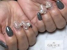 グレース ネイルズ(GRACE nails)/ミラーパールとフラッシュ