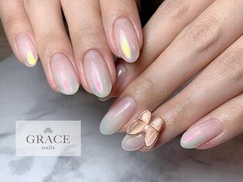 グレース ネイルズ(GRACE nails)/オーロラ蝶々