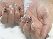 ネイルサロンブラン(nail salon BLANC)/リボンとシースルーネイル