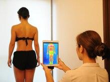 《独自のサーモチェック!》お着替え後は、脂肪や体質の状態をサーモグラフィでチェック