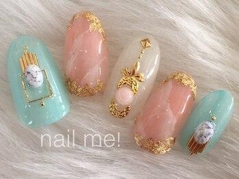 ネイルミー(nail me!)/天然石風ネイル