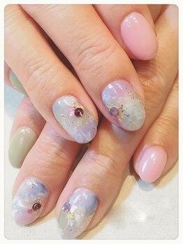 パークネイルズジェイ(Park Nails J)/上品マーブル